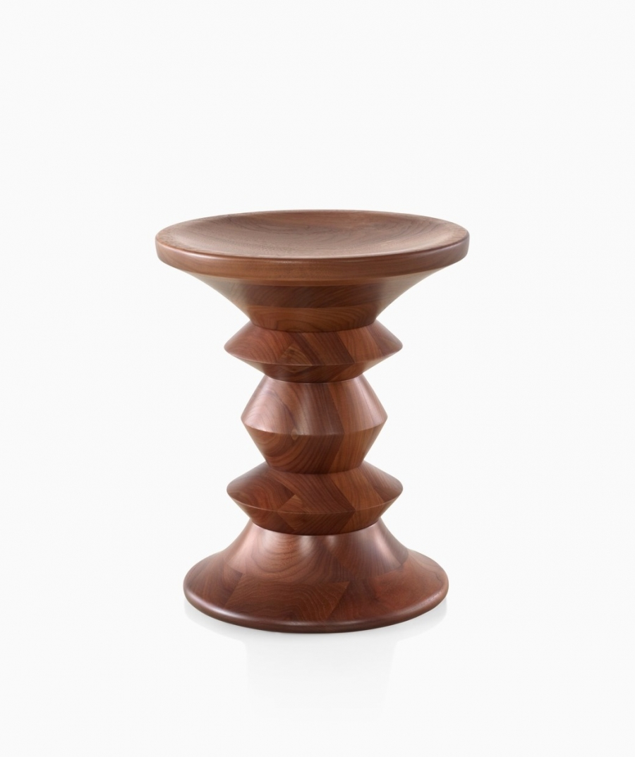 Eames Walnut Stool, Herman Miller walnut stool, Eames Walnut side table