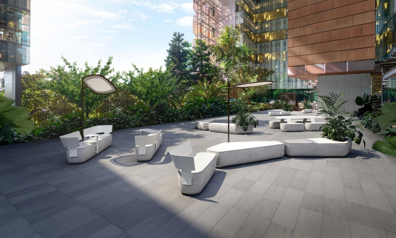 Scape outdoor collection by Adam Goodrum, Adam Goodrum and Tait scape modular, Outdoor modular system by Tait, Scape designed by Adam Goodrum