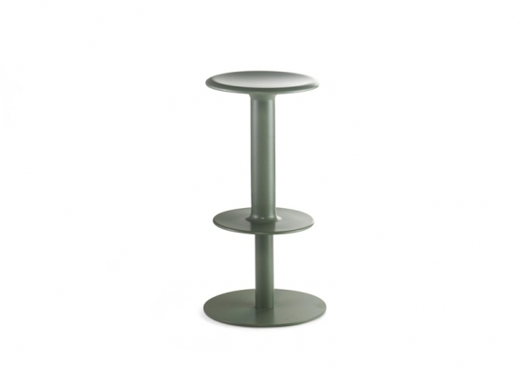 Rev stool designed by Adam Cornish, Nau design spun metal stool, Rev Bar stool