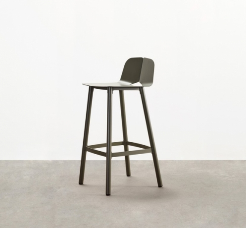 Seam bar stool designed by Adam Cornish, Tait Seam bar chair, Seam high chair by Tait