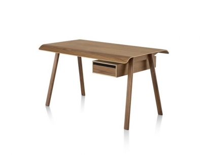 Distil desk designed by Todd Bracher, Herman Miller desk, Herman miller timber desk