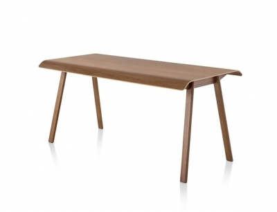Distil table designed by Todd Bracher, Herman Miller distil table, Herman miller timber desk