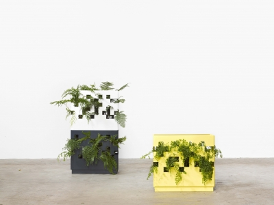 Garden wall by Tait, Garden tower by Tait, Greenery display units by Tait,
