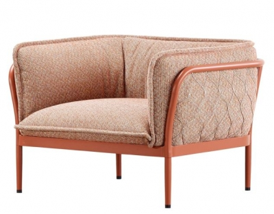 Trace armchair designed by Adam Goodrum for Tait, Tait Trace collection single arm sofa