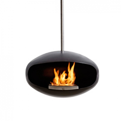 Aeris Cocoon Fire hanging fireplace, Coccon Fire designed by FEDERICO OTERO